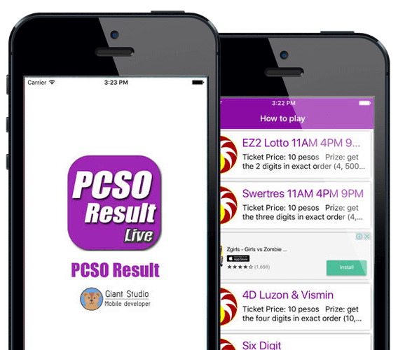 Download The PCSO Lotto Result App